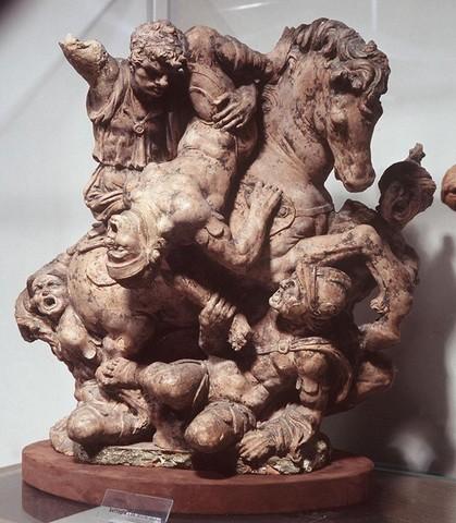 Giovan Francesco Rustici, Combattimento, terracotta; Bargello