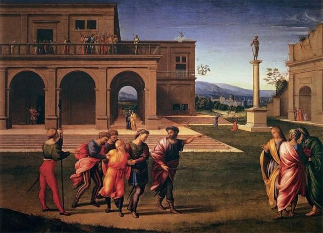 Francesco Granacci [e Berruguete ?] Cattura di Giuseppe, 1515