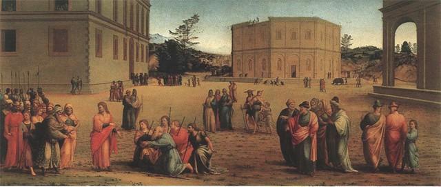 Francesco Granacci, Giuseppe presenta i genitori al Faraone, Uffizi