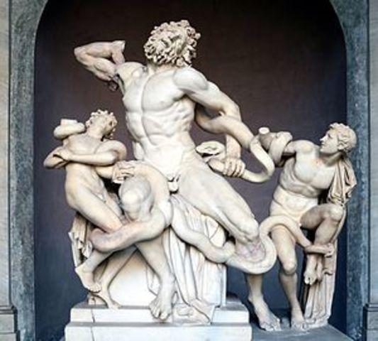 Ritrovamento del Laocoonte a Roma