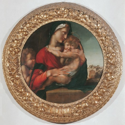 Berruguete, Madonna della Coll. Loeser, palazzo Vecchio, 1513-14