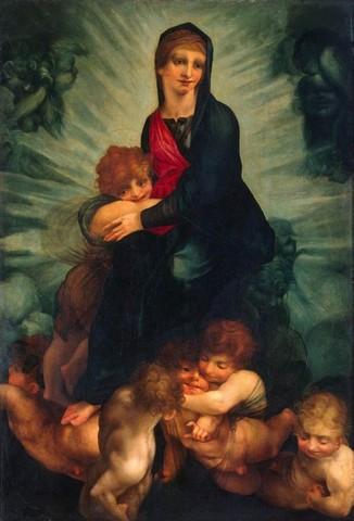 Rosso Fiorentino, Madonna col Bambino in gloria,1511-1513, olio su tavola, San Pietroburgo, Ermitage