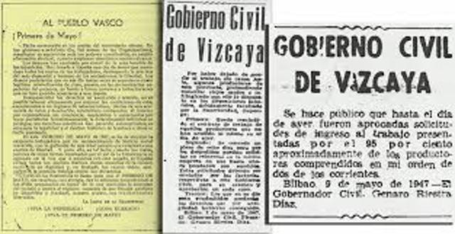 Huelga general del 1 de Mayo en Vizcaya