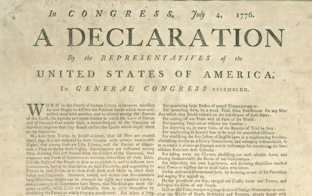 Declaration of Indepence