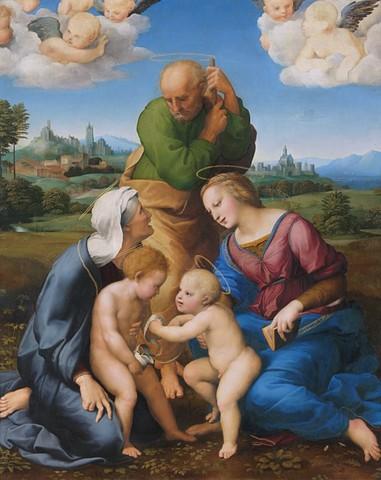 Raffaello, Sacra Famiglia Canigiani, Monaco, Alte P.