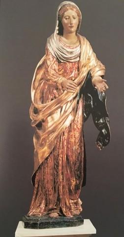Alonso Berruguete, Madonna della Cintola1516-1517, legno dipintoFirenze, Basilica di Santo Spirito