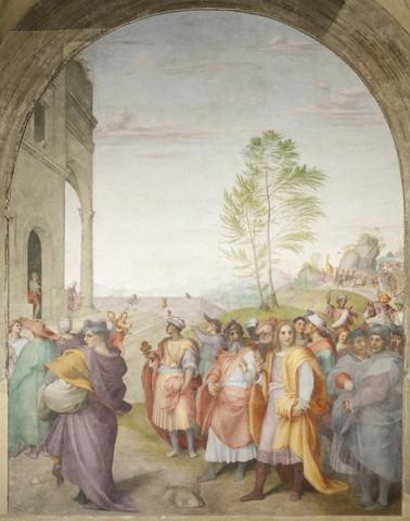 Andrea del Sarto, Viaggio dei magi, 1511, affr. Annunziata, Chiostrino dei Voti