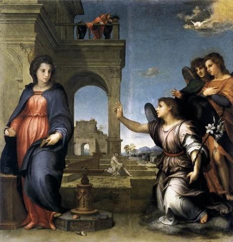 Andrea del Sarto, Annunciazione, 1512 circa, tavolaFirenze, Galleria Palatina