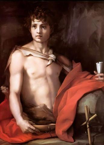 Andrea del Sarto, San Giovanni Battista1523 circa, olio su tavolaFirenze, Galleria Palatina