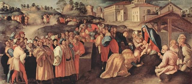Pontormo, Adorazione dei Magi, 1520 circa, olio su tavolaFirenze, Galleria Palatina
