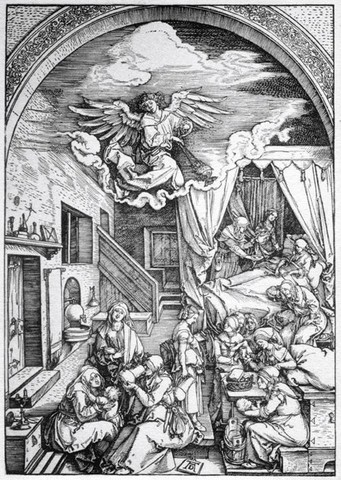 Durer, nativita di Maria, 1504,GDSU