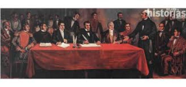 El congreso, saca a Iturbide del país