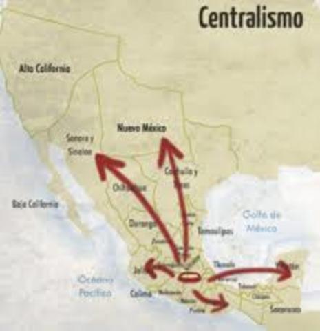 México se convierte en una república centralista.