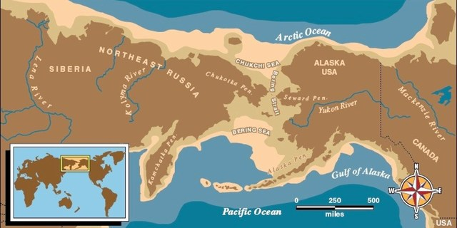Bering Land Bridge: First Wave