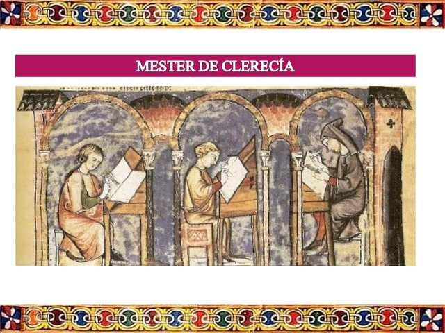 EL MESTER DE CLERECIA SIGLO XIII -XIV