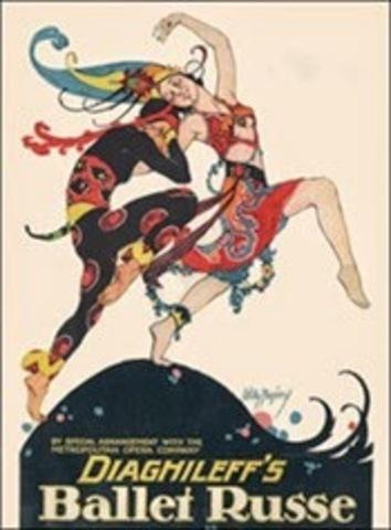 Creación de los Ballet Russes de Serge Diaguilev