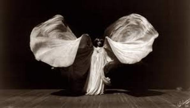 """""""Danza de la serpiente"""" de Loie Fuller"""
