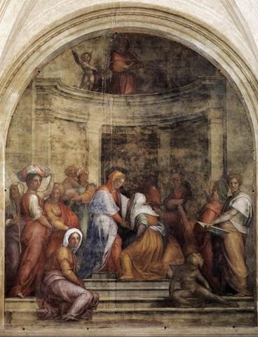 Pontormo, Visitazione,1514-1516, pittura a fresco, Firenze, Santissima Annunziata, Chiostrino dei Voti