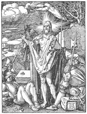 Albrecht Durer, Resurrezione, xilografia della Piccola Passione