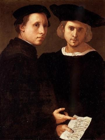 Pontormo, Ritratto di due amici 2. 1523-1524 circa, olio su tavolaVenezia, Collezione Cini