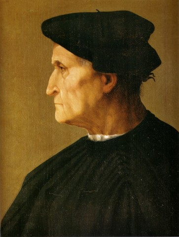 Rosso Fiorentino, Ritratto d'uomo, 1521-1522, tavola, Firenze, Galleria Palatina