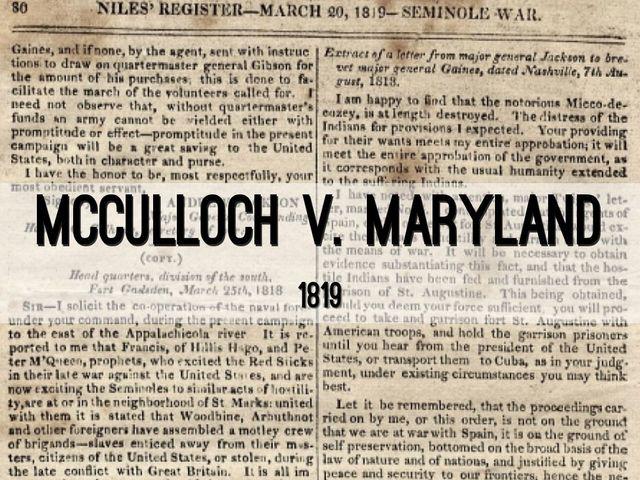 McCulloch v. Maryland: Major Supreme Court Case