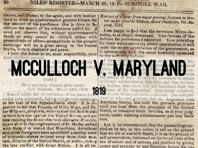 McCulloch v. Maryland: Major Supreme Court Case