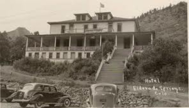 The Moffat Lakes Resort Company was founded, which in turn, founded the town of Eldorado Springs.