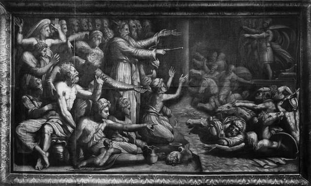 Perin del Vaga, Passaggio del Mar Rosso, 1523, Uffizi