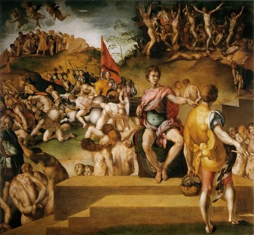 Pontormo, Martirio dei diecimila, 1530 circa, tavolaFirenze, Galleria Palatina