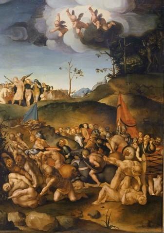 Bronzino, Martirio dei diecimila, 1530-1532 circa, tavola, Firenze, Galleria degli Uffizi