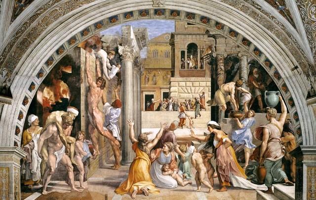 Raffaello e aiuti, Stanza dell'Incendio di Borgo 2, 1514