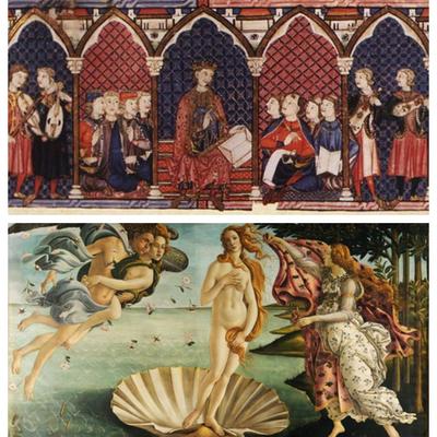La literatura desde el medievo al renacimiento timeline