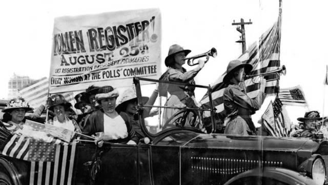 Beginning of Women's Suffrage