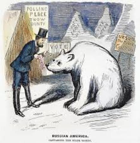 Seward buys Alaska from Russia