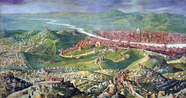 Giovanni Stradano, Assedio di Firenze, 1556-62 Sala di clemente VII, Palazzo Vecchio