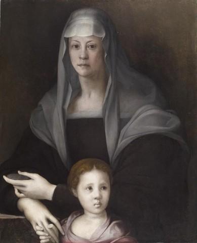 Pontormo, Ritratto di Maria Salviati con un bambino,1526 circa, olio su tavola, 88x72 Baltimora, Walters Art Gallery