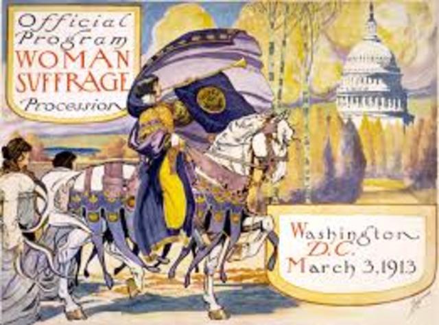 Suffragist Parade in Washington, D.C.