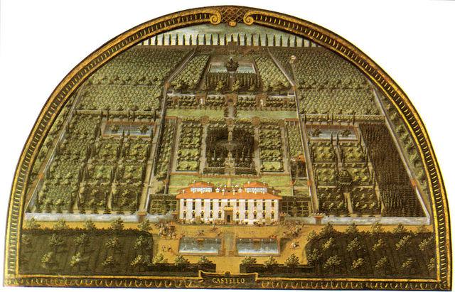 Villa di Castello, ristrutturazione di Tribolo, Vasari