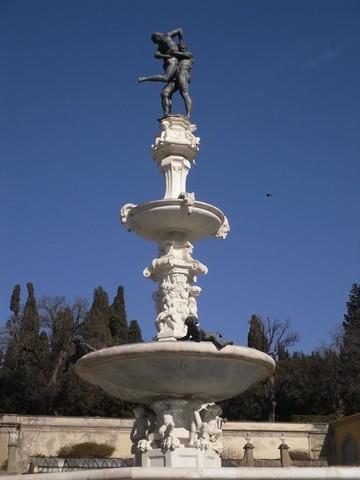 Ercole e Anteo, Ammannati; fontana del Tribolo, Pierino da Vinci, Villa di Castello, post 1538