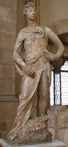 Donatello, David marmoreo, Bargello