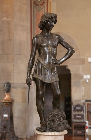 Verrocchio, David bronzeo, Bargello, 1472-75