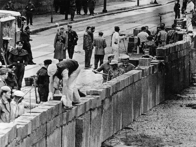 Berlin Wall is constructed