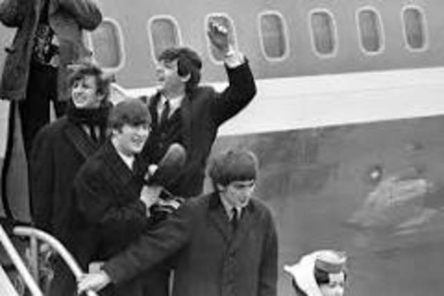 The Beatles arrive in the United States