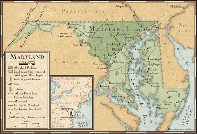 Chesapeake Colonies, Virginia Maryland