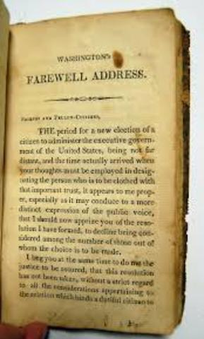 Election of 1796 (Washington Farewell)