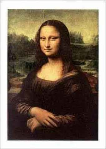 Leonardo da vinci paints mona lisa