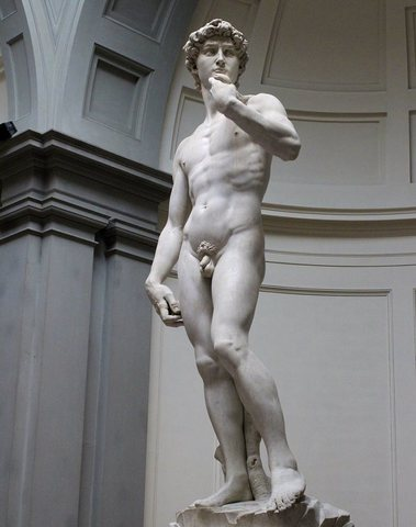 Michelangelo Sculpts david