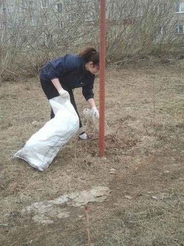 уборка территорий парка Победы
