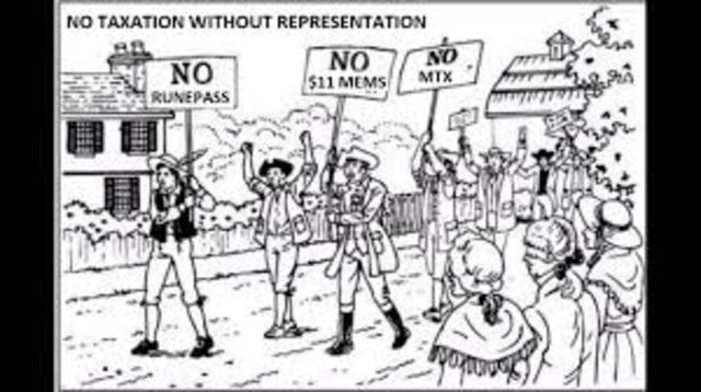 No Taxation without Representaion